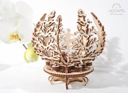 Puzzle 3D Floare din Lemn Ugears [4]