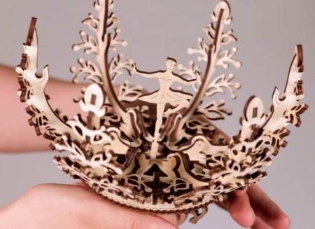 Puzzle 3D Floare din Lemn Ugears [8]