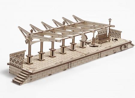 Puzzle 3D Gara din Lemn Ugears [9]
