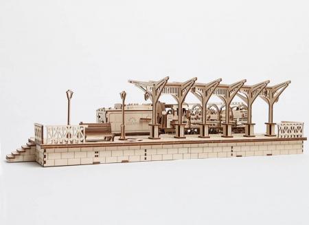 Puzzle 3D Gara din Lemn Ugears [10]