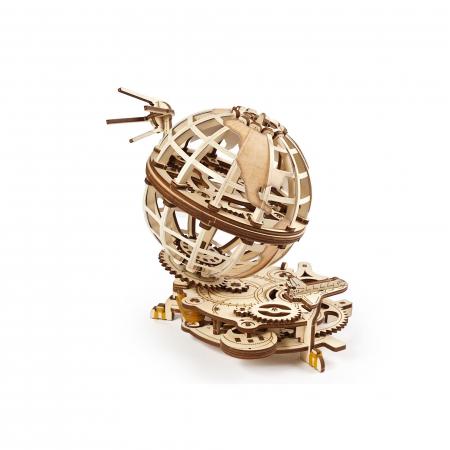 Puzzle 3D Glob pamantesc din lemn Ugears2