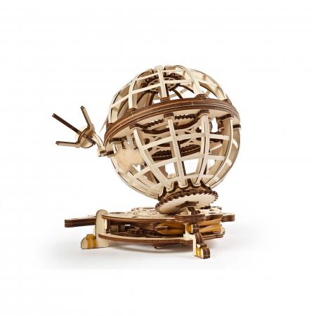 Puzzle 3D Glob pamantesc din lemn Ugears3