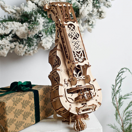 Puzzle 3D Instrument Muzical - Vioara din Lemn Ugears [0]