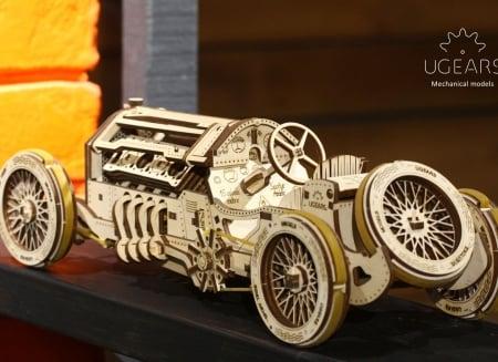 Puzzle 3D Masina Grand Prix U-9 din lemn Ugears1