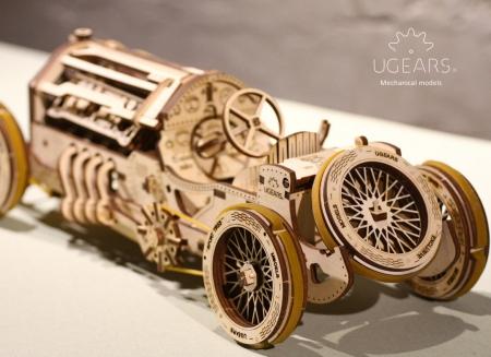 Puzzle 3D Masina Grand Prix U-9 din lemn Ugears3