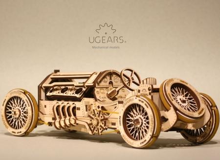 Puzzle 3D Masina Grand Prix U-9 din lemn Ugears2