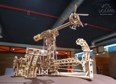 Puzzle 3D Model Aviator din lemn Ugears18