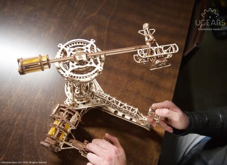 Puzzle 3D Model Aviator din lemn Ugears3