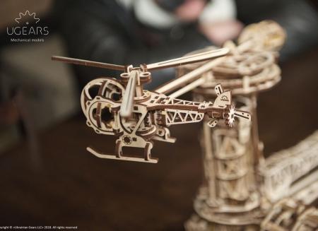 Puzzle 3D Model Aviator din lemn Ugears13
