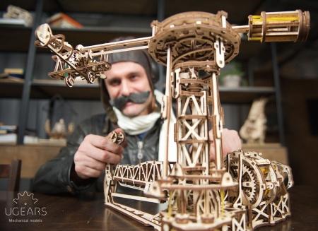 Puzzle 3D Model Aviator din lemn Ugears9
