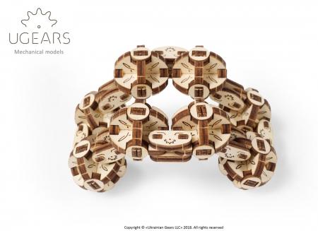 Puzzle 3D Model Flexi-cubus din lemn Ugears5