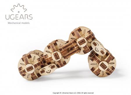 Puzzle 3D Model Flexi-cubus din lemn Ugears6