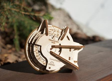 Puzzle 3D Model STEM Curbimetru din lemn Ugears5