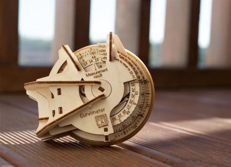 Puzzle 3D Model STEM Curbimetru din lemn Ugears4