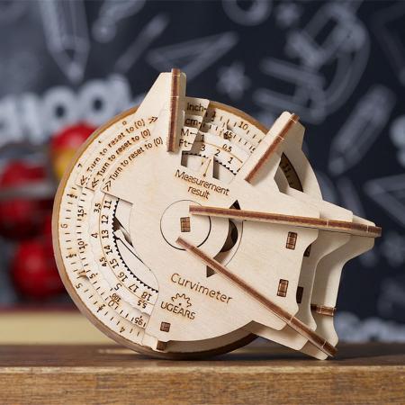 Puzzle 3D Model STEM Curbimetru din lemn Ugears0