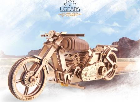 Puzzle 3D Motocicleta VM-02 din lemn Ugears9