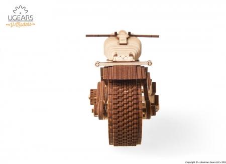 Puzzle 3D Motocicleta VM-02 din lemn Ugears13