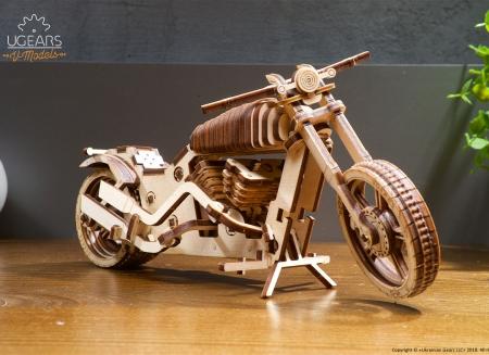 Puzzle 3D Motocicleta VM-02 din lemn Ugears5