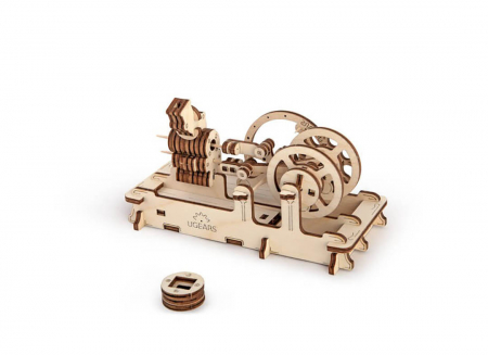 Puzzle 3D Motor Pneumatic din Lemn Ugears3