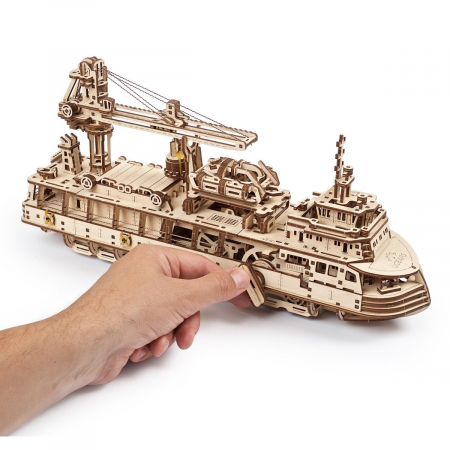 Puzzle 3D Nava de cercetare din lemn Ugears11