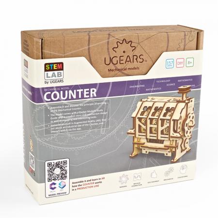 Puzzle 3D STEM Contor de parcurs din lemn Ugears5