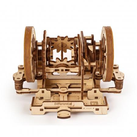 Puzzle 3D STEM Diferentialul din lemn Ugears1