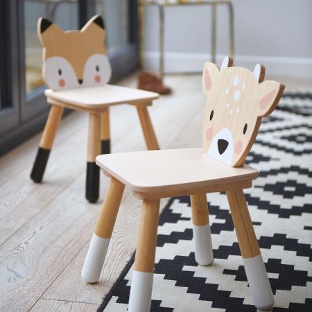 Scaunel din lemn pentru copii, Vulpita1
