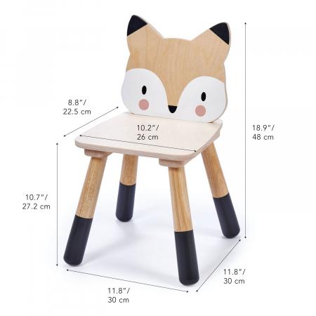 Scaunel din lemn pentru copii, Vulpita3