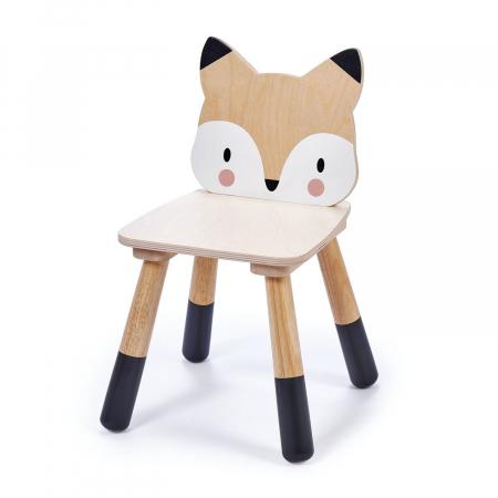 Scaunel din lemn pentru copii, Vulpita2