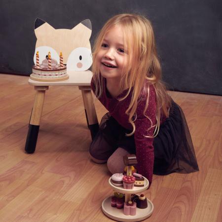 Scaunel din lemn pentru copii, Vulpita0