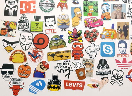 Set 100 stickere laptop Indraznete4