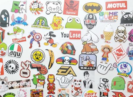 Set 100 stickere laptop Real Men3