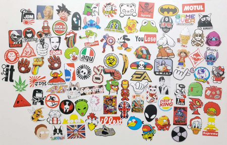 Set 100 stickere laptop Real Men1