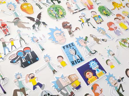 Set 100 stickere laptop Rick and Morty2