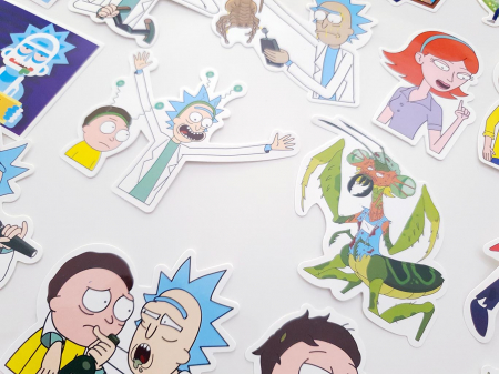 Set 100 stickere laptop Rick and Morty6