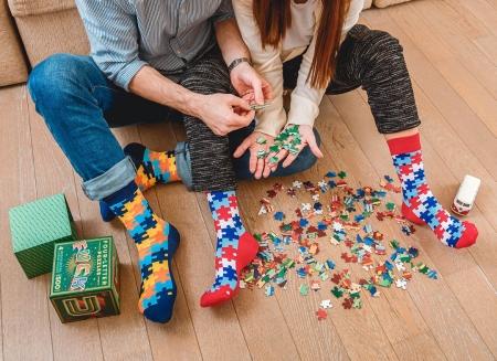 Set 2 perechi sosete vesele Puzzle0