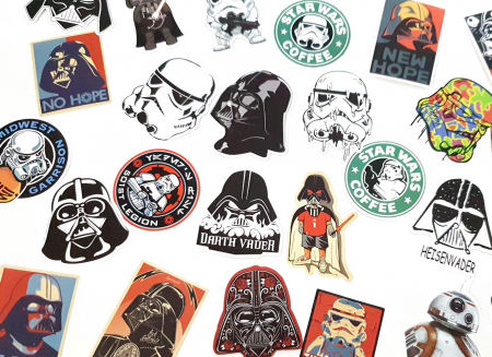 Set 25 stickere laptop Star Wars4