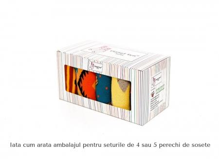 Set 5 perechi sosete colorate cu modele vesele7