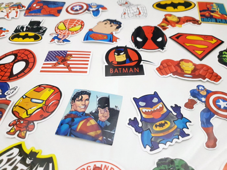 Set 50 stickere bagaje Superhero4