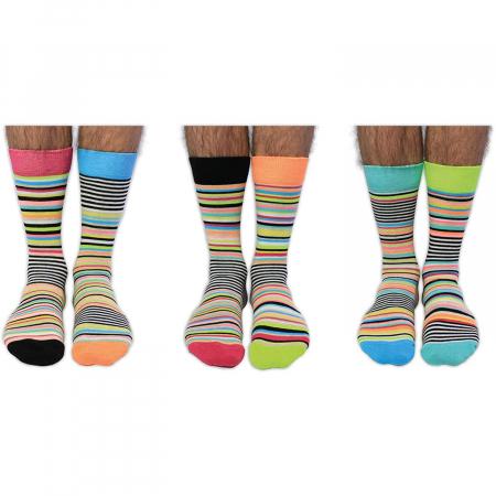 Set 6 sosete colorate cu dungi Stripe-Teasing1