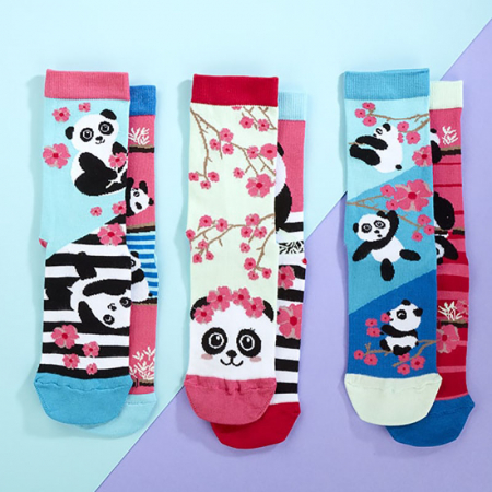 Set 6 sosete colorate Panda Bamboozle2