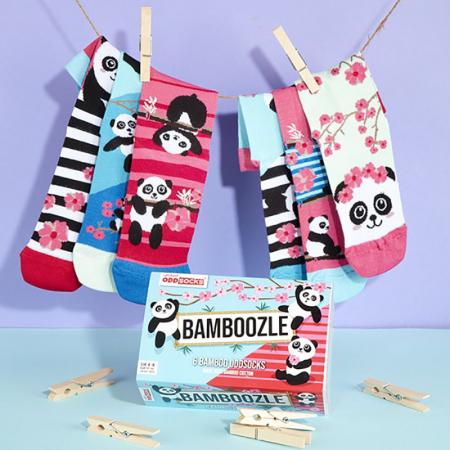 Set 6 sosete colorate Panda Bamboozle0