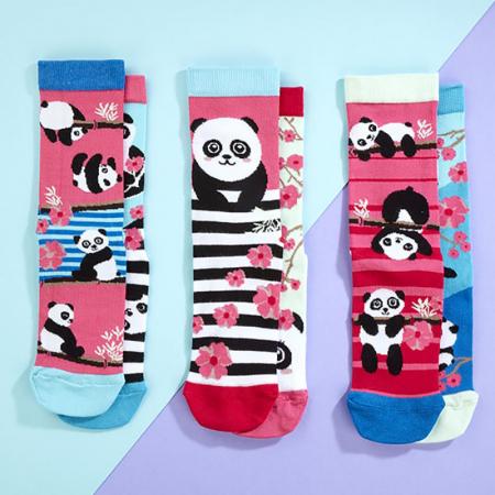 Set 6 sosete colorate Panda Bamboozle1