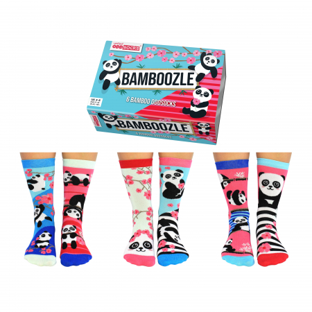 Set 6 sosete colorate Panda Bamboozle4