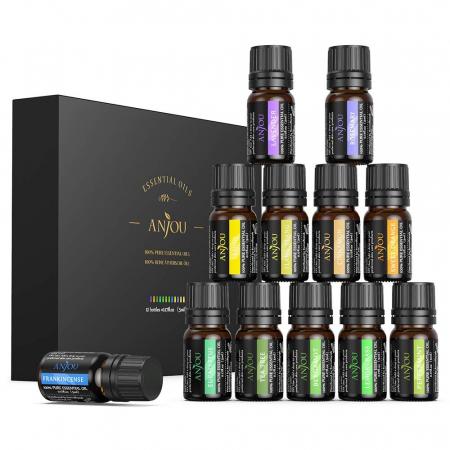 Set cadou 12 uleiuri esentiale Anjou 12x5ml puritate 100%5