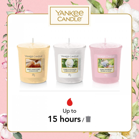 Set cadou 3 lumanari parfumate Yankee Candle Garden Hideaway1