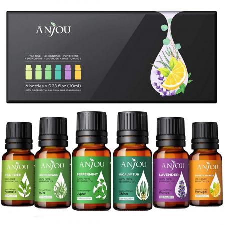 Set cadou 6 uleiuri esentiale Anjou, puritate 100% [6]