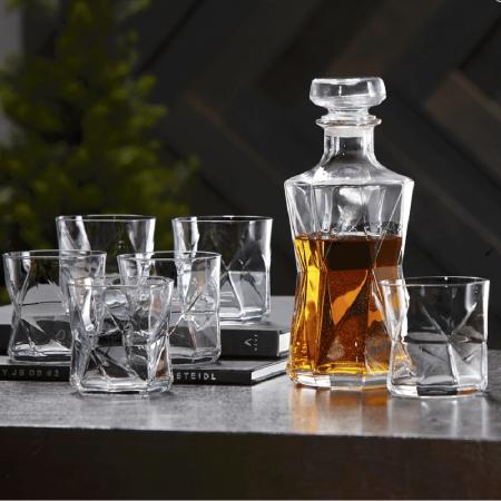 Set cadou decantor Sticla cu sase pahare Cassiopea [0]