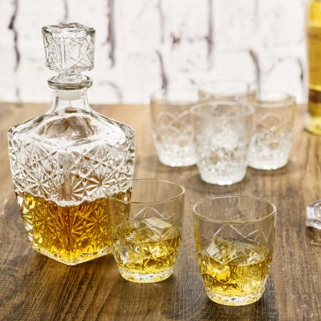 Set cadou decantor Sticla cu sase pahare Dedalo [3]
