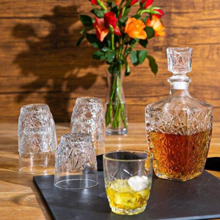 Set cadou decantor Sticla cu sase pahare Dedalo [0]